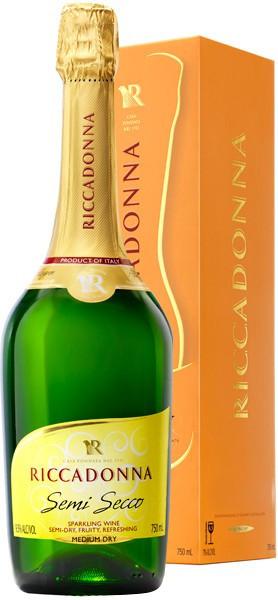 Игристое вино Riccadonna, Semi Secco, gift box