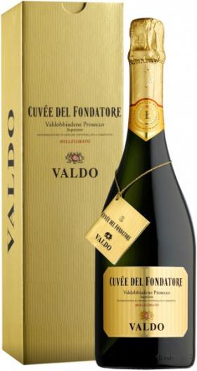 Игристое вино Valdo, Cuvee del Fondatore, Prosecco di Valdobbiadene DOCG, gift box