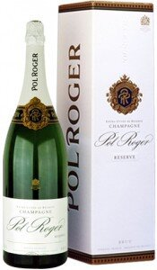 Шампанское Pol Roger, Brut Reserve, Extra Cuvee de Reserve, gift box, 1.5 л