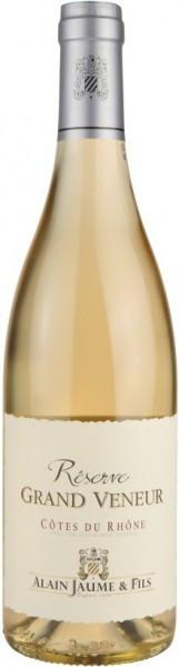 "Вино Alain Jaume & Fils, Reserve ""Grand Veneur"" Blanc, Cоtes du Rhоne AOC, 2013"