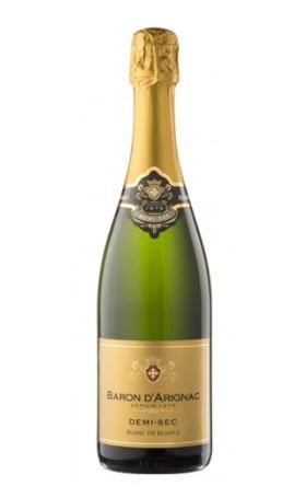 Игристое вино Baron d'Arignac Blanc de Blancs Demi Sec 0.75л