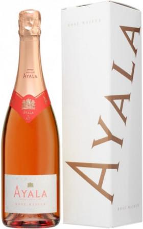 "Шампанское Ayala, ""Rose Majeur"" Brut AOC, gift box"
