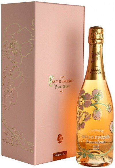 "Шампанское Perrier-Jouet, ""Belle Epoque"" Rose, Champagne AOC, gift box"