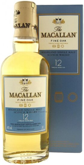"Виски ""Macallan"" Fine Oak, 12 Years Old, gift box, 50 мл"