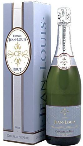 "Игристое вино Charles de Fere, ""Cuvee Jean-Louis"" Blanc de Blancs Brut, gift box"