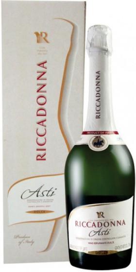Игристое вино Riccadonna, Spumante Dolce, Asti DOCG, gift box