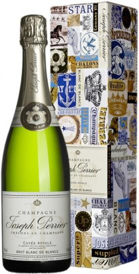 "Шампанское Joseph Perrier, ""Cuvee Royale"" Brut Blanc de Blancs, gift box"