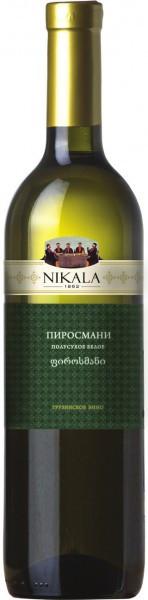 "Вино Badagoni, ""Nikala 1862"" Pirosmani, white semi-dry"
