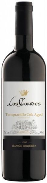 "Вино ""Los Condes"" Tempranillo Oak Aged, Catalunya DO, 2013"
