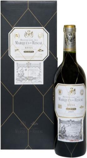 Вино Herederos del Marques de Riscal Reserva, Rioja DOC, 2005, with gift box