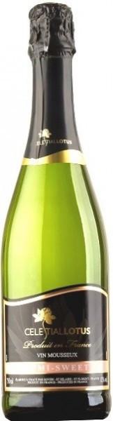 """Игристое вино """"Celestial Lotus"""" Blanc Semi Sweet"""