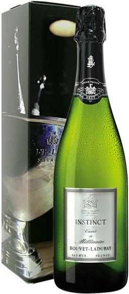 """Игристое вино Bouvet Ladubay, """"Instinct"""" Cuvee de Millenaire Brut, Saumur AOC, 2008, gift box"""