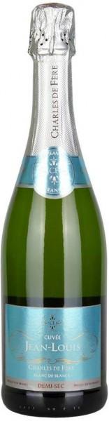 """Игристое вино Charles de Fere, """"Cuvee Jean-Louis"""" Blanc de Blancs Demi-Sec"""