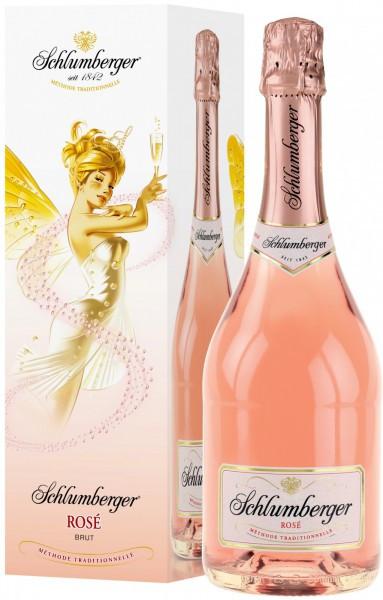 Игристое вино Schlumberger, Rose Brut, gift box