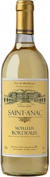 "Вино ""Saint-Anac"" Moelleux, Bordeaux AOC, 2012"