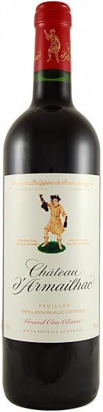 Вино Chateau d'Armailhac Pauillac AOC 5-me Grand Cru Classe, 1989