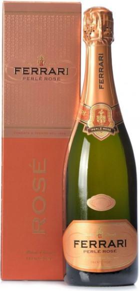 "Игристое вино Ferrari, ""Perle Rose"" Brut, Trento DOC, gift box"