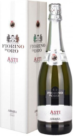 "Игристое вино Abbazia, ""Fiorino d'Oro"" Asti Spumante Dolce DOCG, gift box"