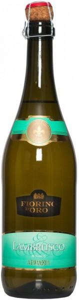 "Игристое вино Abbazia, ""Fiorino d'Oro"" Lambrusco Bianco"