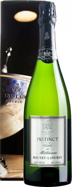 """Игристое вино Bouvet Ladubay, """"Instinct"""" Cuvee de Millenaire Brut, Saumur AOC, 2012, gift box"""
