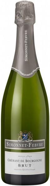 "Игристое вино Simonnet-Febvre, ""Cremant de Bourgogne"" Brut Blanc"