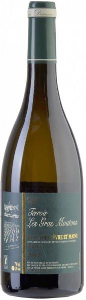 """Вино Domaine La Haute Fevrie, """"Les Gras Moutons"""" Sur Lie, Muscadet Sevre Et Maine AOC, 2014"""