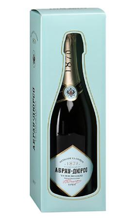 Игристое вино Абрау-Дюрсо Виктор Дравиньи Выдержанное Премиум Брют gift box 0.75л