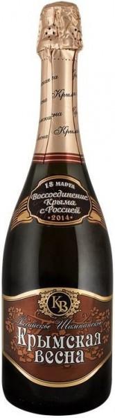 "Игристое вино Sevastopol Winery, ""Crimean Spring"" Muscat Rose Sweet"