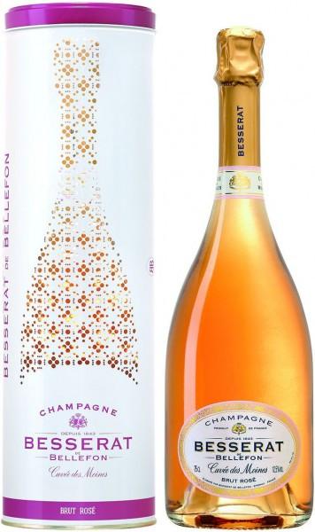 "Шампанское Besserat de Bellefon, ""Cuvee des Moines"" Brut Rose, in tube"