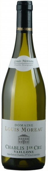 """Вино Domaine Louis Moreau, Chablis Premier Cru """"Vaillons"""", 2014"""