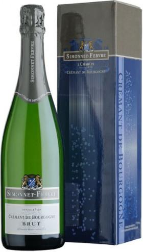 "Игристое вино Simonnet-Febvre, ""Cremant de Bourgogne"" Brut Blanc, gift box"