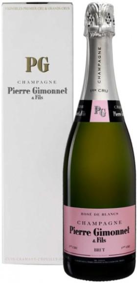 "Шампанское Pierre Gimonnet & Fils, ""Rose de Blancs"" Brut 1er Cru, Champagne AOC, gift box"