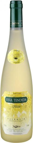 "Вино ""Vina Tendida"" White Semi-Dry, Valencia DO"