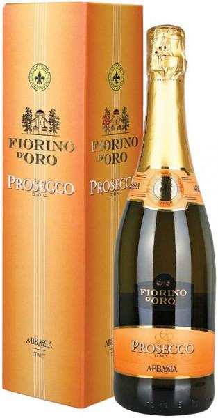 """Игристое вино Abbazia, """"Fiorino d'Oro"""" Prosecco Spumante DOC, gift box"""