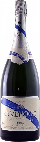 """Шампанское Champagne de Venoge, """"Blanc de Blancs"""" Brut, Champagne AOC, 1996, 1.5 л"""