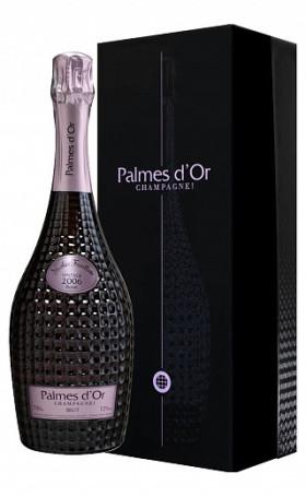Шампанское Nicolas FeuillattePalmes d'Or Brut Rose 2006 gift box 0.75л