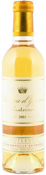 Вино Chateau d'Yquem Sauternes AOC 1-er Grand Cru Superieur, 2001, 0.375 л