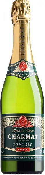 "Игристое вино ""Charmat"" Blanc de Blancs Demi Sec"