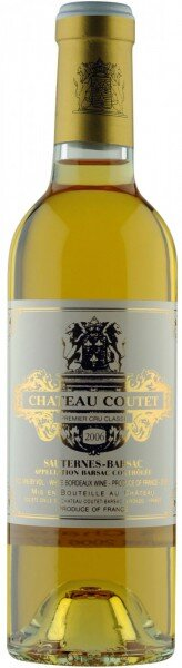 Вино Chateau Coutet, 1-er Cru Sauternes-Barsac AOC, 2006, 0.375 л