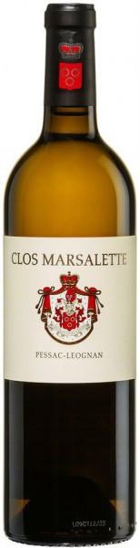 "Вино ""Clos Marsalette"" Blanc, Pessac-Leognan AOC, 2010"