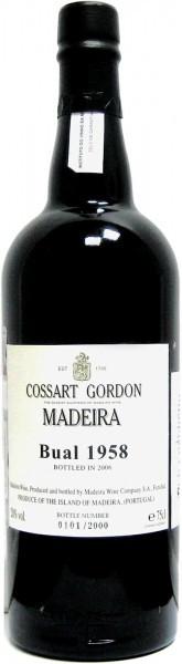 Вино Cossart Gordon, Bual, 1958