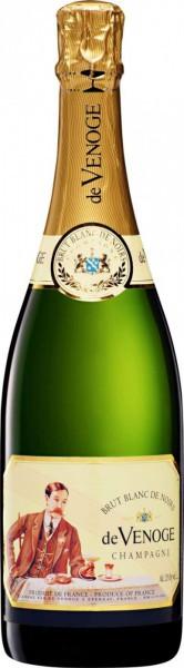 """Шампанское Champagne de Venoge, """"Blanc de Noirs"""" Brut, Champagne AOC"""