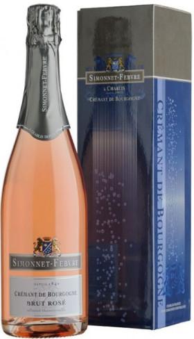 "Игристое вино Simonnet-Febvre, ""Cremant de Bourgogne"" Brut Rose, gift box"