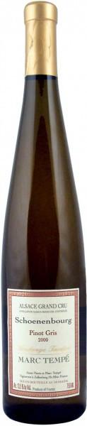Вино Pinot Gris Schoenenbourg Grand Cru Vendanges Tardives, 2000