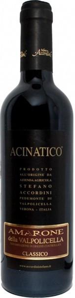 """Вино Stefano Accordini, Amarone Classico """"Acinatico"""" DOC, 2008, 0.375 л"""