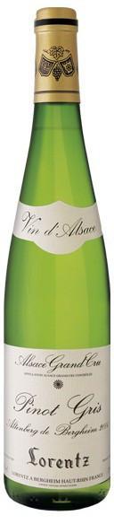 Вино Gustave Lorentz, Pinot Gris Grand Cru, Altenberg de Bergheim Vieilles Vignes, Alsace AOC, 2005