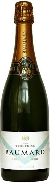 Игристое вино Domaine des Baumard, Carte Turquoise Brut, Cremant de Loire AOC