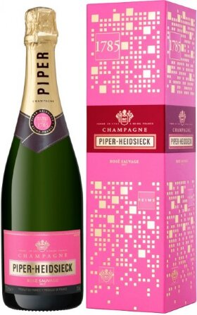 "Шампанское Piper-Heidsieck, ""Rose Sauvage"", Champagne AOC, gift box ""Off-Trade"""