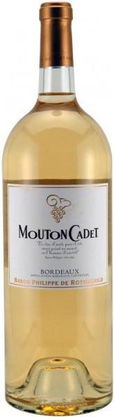 "Вино ""Mouton Cadet"", Bordeaux AOC Blanc, 2014, 1.5 л"