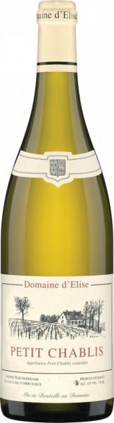 Вино Domaine d'Elise, Petit Chablis AOC, 2014